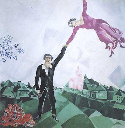 Chagall La passeggiata