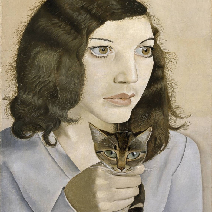 Girl with a Kitten, Lucian Freud