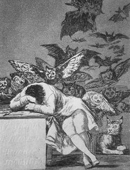 Il sonno della ragione genera mostri. (Goya)