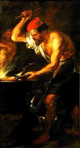 Vulcano forgia le folgori per Giove - Rubens